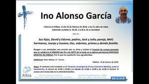 Recordatorio fúnebre del ertzaina Inocencio Alonso