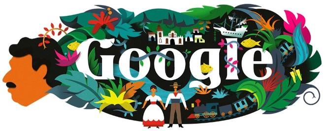 Gabriel García Márquez, en el doodle