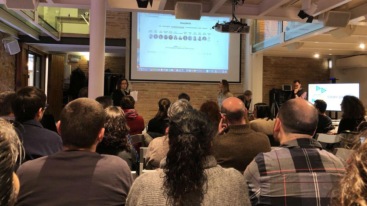 Presentación de StoryData en el marco del Open Data Day 2018, en Barcelona.