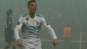 Cristiano Ronaldo celebra su gol ante el PSG