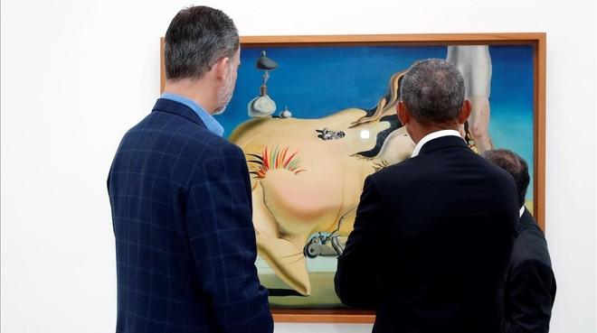 El detalle informal de Felipe VI en su encuentro con Obama
