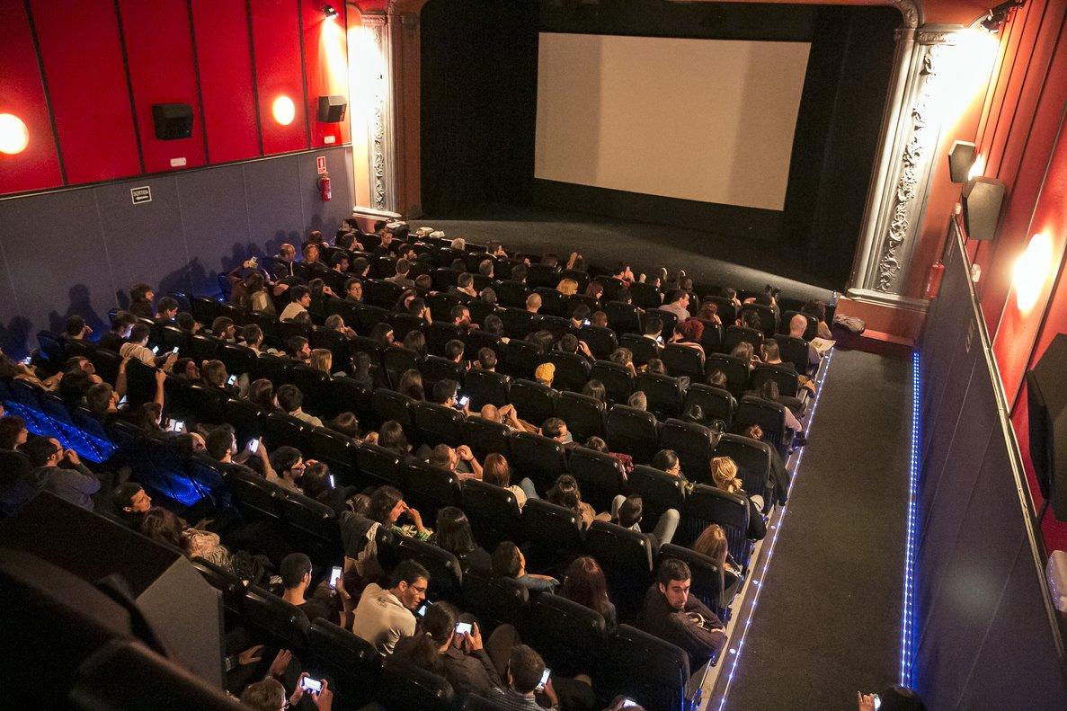 Aspecto del interior de la sala del cine Maldà.