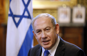 Netanyahu durante su visita a Londres.