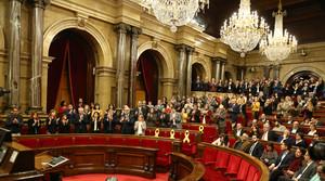 El Parlament reivindica aquest dimecres que Puigdemont, Sànchez i Turull puguin ser investits