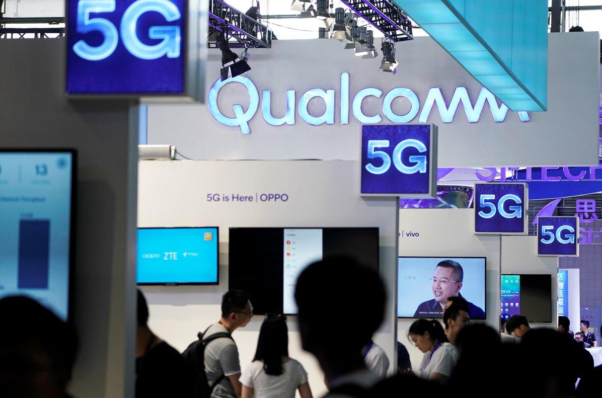 Estand de Qualcomm en el Mobile World Congress de Shanghái, el verano pasado.
