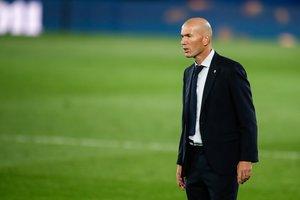 Zidane durante el último partido del Real Madrid.