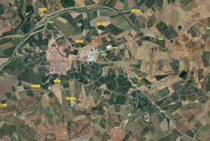 Mapa de la zona en la que se ha producido el accidente mortal entre un autobús y un coche.