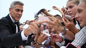 George Clooney, el pasado mes de septiembre, en el estreno de Suburbicon en el Festival de Cine de Venecia.