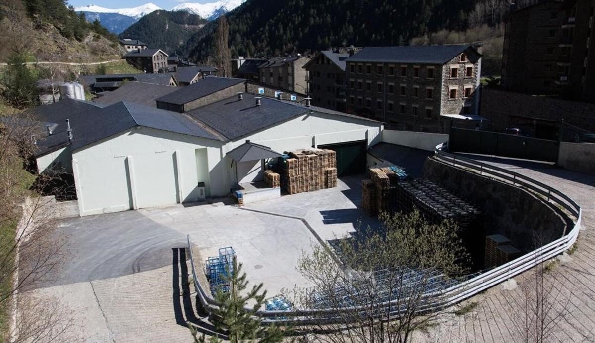 Planta embotelladora Font d'Arinsal de Andorra.