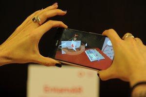 Aplicación EntamAR, de realidad aumentada para infancia hospitalizada, una de las apuestas de la Fundación Vodafone para el MWC19.