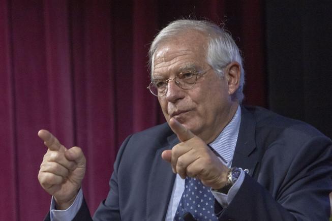 NUE07. NUEVA YORK (EEUU), 20/09/2018.- El ministro español de Asuntos Exteriores, Josep Borrell, participa durante una conferencia sobre Europa y el Estado del Reino de España: retos actuales y promesas futuras hoy, jueves 20 de Septiembre de 2018, en la Universidad de Nueva York (NYU), en Nueva York (EE.UU.). Borrell estimó que resolver con éxito la división visible dentro de la sociedad catalana desde que se celebró el referéndum del 1-O podría llevar veinte años. EFE/Miguel Rajmil