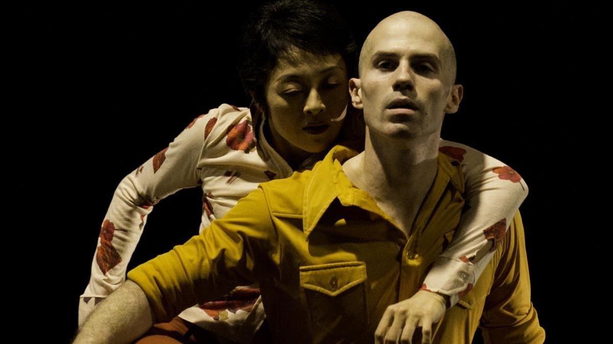 Dimo Kirilov y Tamako Akiyama en una escena de Broken Lines.