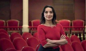 La cantante Luz Casal, en el Teatro Principal de Maó, en agosto del 2019.