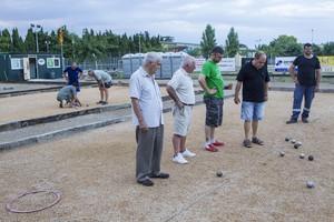 Las pistas del club de petanca de L'Armentera