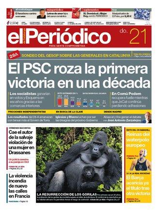 La portada d'EL PERIÓDICO del 21 d'abril del 2019