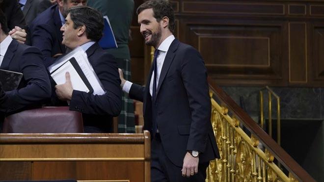 Debate de investidura. Pablo Casado pide a Sánchez activar el 155 o actuará contra él por prevaricación.