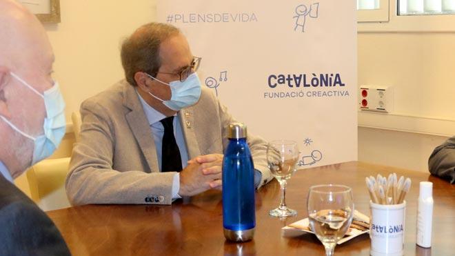 Declaraciones de Quim Torra sobre la crisis sanitaria y los rebrotes del coronavirus.
