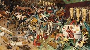Detalle de 'El triunfo de la muerte' de Pieter Brueghel, cuadro que ejemplifica las pestes medievales.