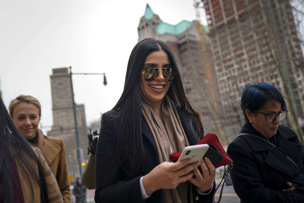 Emma Coronel Aispuro  the wife of Joaquin  El Chapo  Guzman  arrives at the U S  District Court for the Eastern District of New York  Drew Angerer Getty Images AFP