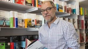 El escritor malagueño Pablo Aranda, en una visita reciente a Barcelona.