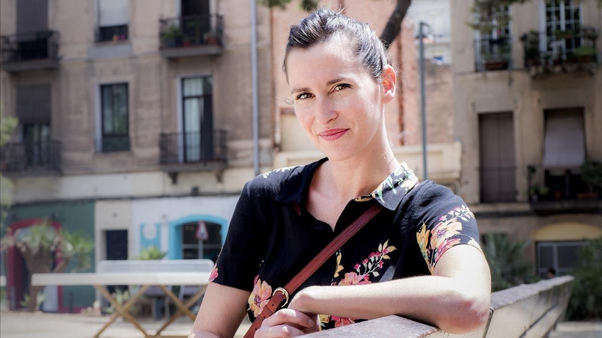 Ariadna Montfort, en Barcelona, el día antes de su estreno como coreógrafa.