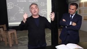Ferran Adrià, izquierda, y Jordi Nicolau presentan Mise en place.