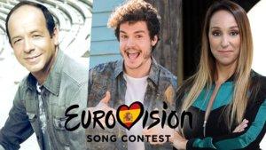 Fokas Evangelinos y Mamen Márquez, directores de la candidatura de Miki en Eurovisión 2019.