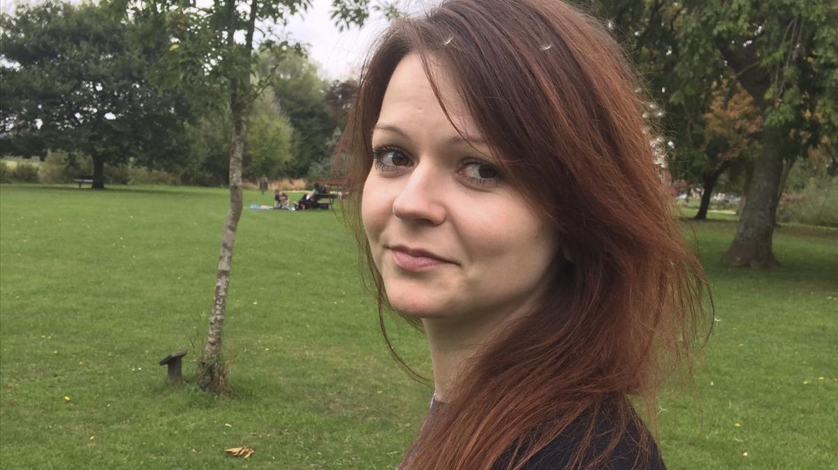 Foto de archivo de Yulia Skripal, de 33 años, hija del exespía ruso Serguéi Skripal, envenenada junto a su padre en Salisbury (Inglaterra), el 4 de marzo.