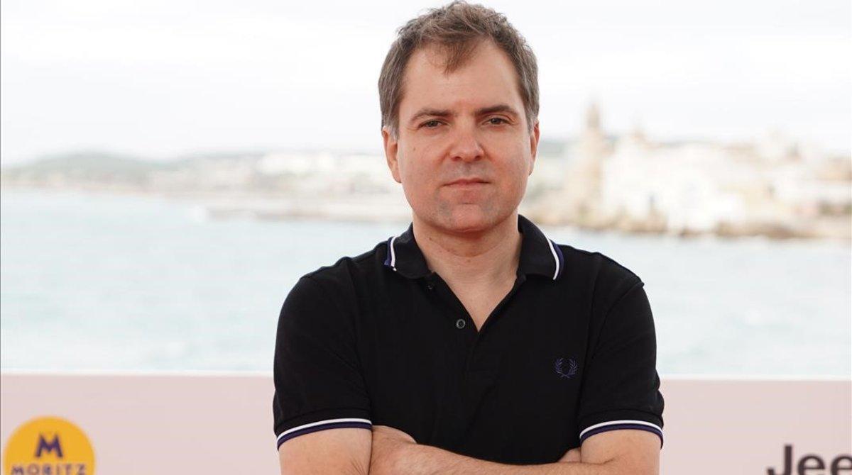 Galder Gaztelu-Urrutia, tras la presentación de 'El hoyo' en Sitges