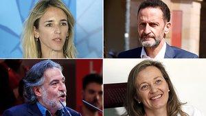 De izquierda a derecha y de arriba abajo, los candidatos Cayetana Álvarez de Toledo, Edmundo Bal, Pepu Hernández y Victoria Rosell.