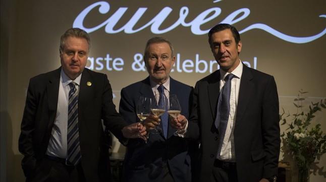 De izquierda a derecha, Pere Ferrer,Pere Bonet y Diego Jiménez, del grupo Freixenet.