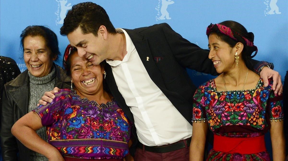 Jayro Bustamante, en la Berlinale del 2015, presentando 'Ixcanul'.