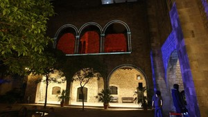 El Museu Frederic Marès iluminado con ocasión de una edición anterior del festival.