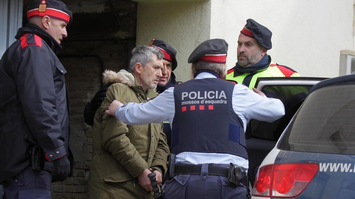 El detenido por el doble crimen de Susqueda, Jordi Magentí.
