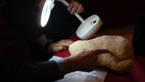Investigadores responsables del hallazgo, delSeminari d'Estudis i Recerques Prehistòriques de la UB