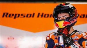 Jorge Lorenzo (Honda), durante el test del pasado lunes en Montmeló.