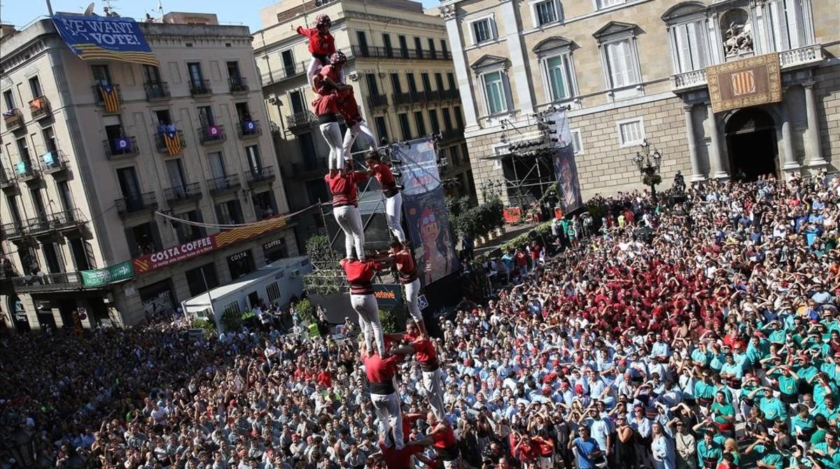 Los Castelleres de Barcelona en la Jornada Castellera de 2017