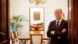 El ministro de Justicia, Juan Carlos Campo, en la sede del ministerio