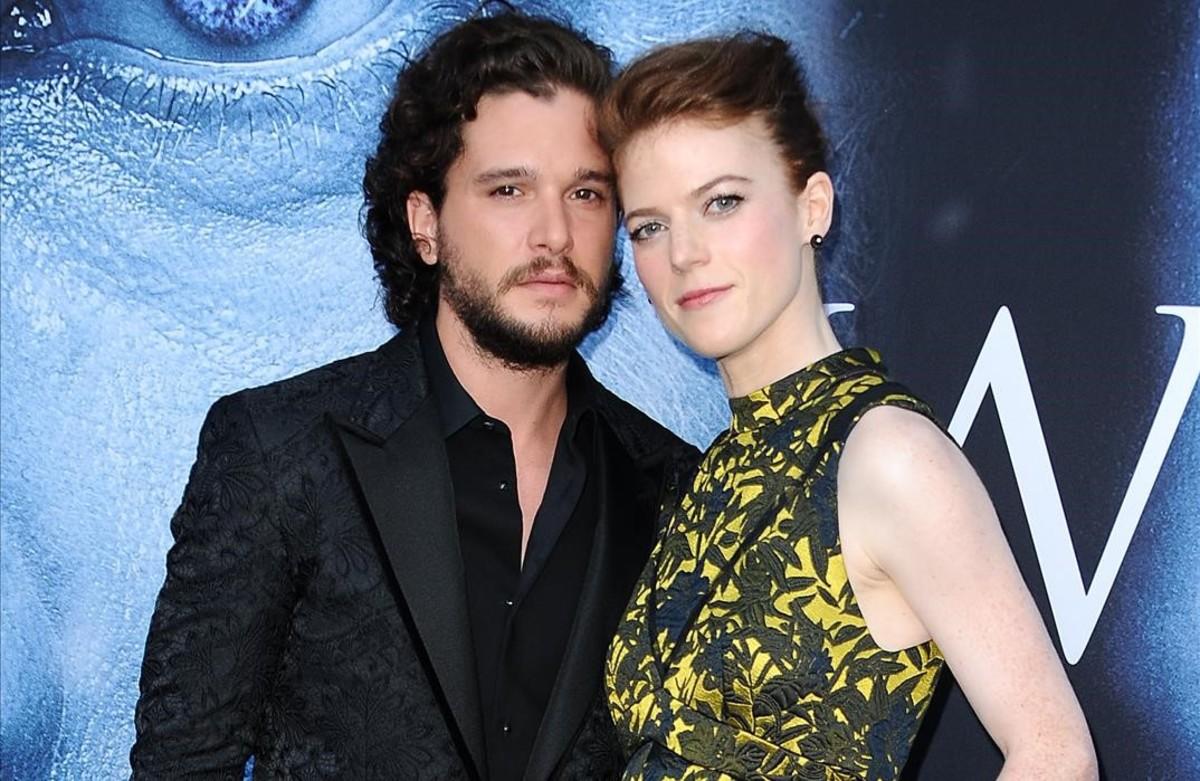 La pareja formada por los actoeres de 'Juego de tronos',Kit Harington (Jon Nieve) y Rose Leslie (Ygritte).
