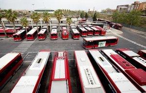 Las cocheras de la EMT en València.