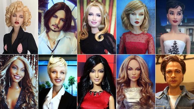 Un 'instagramer' crea muñecas hiperrealistas de los artistas más famosos