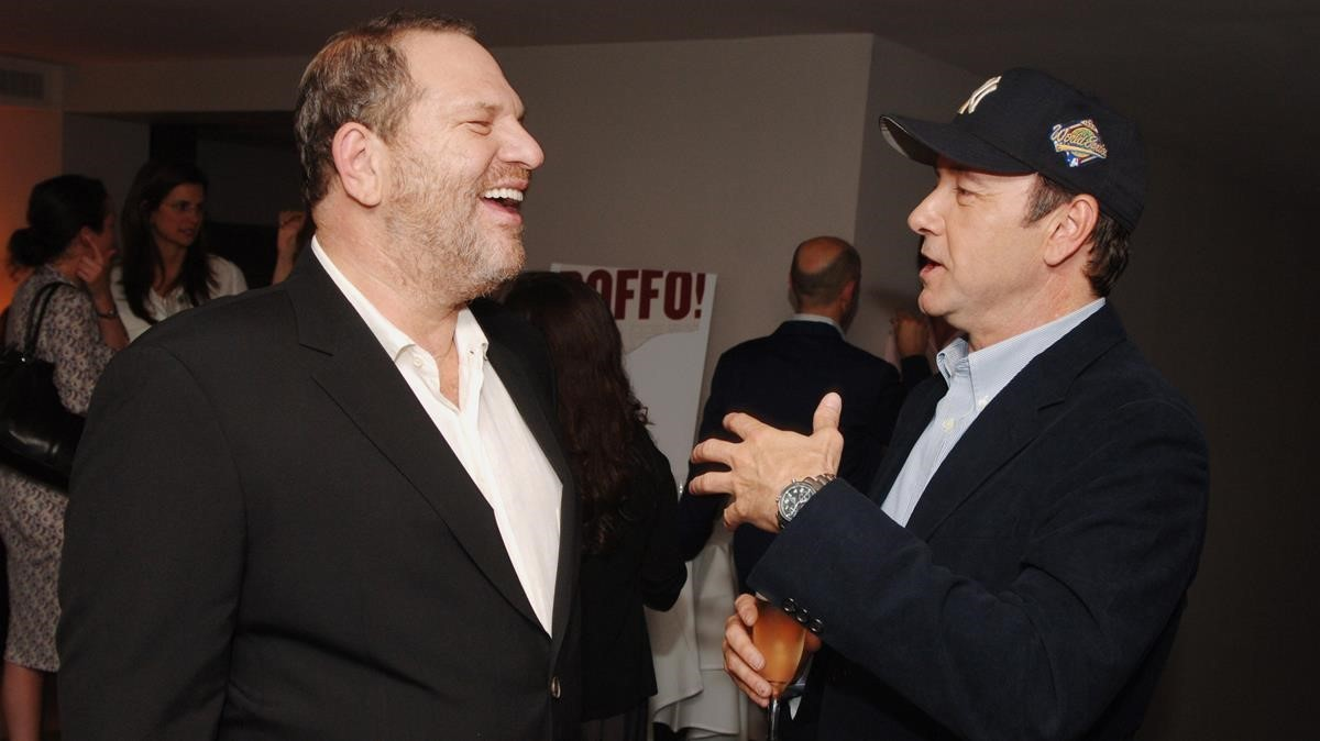 Harvey Weinstein y Kevin Spacey, en junio del 2006.