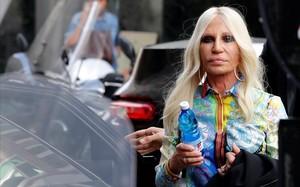 Donatella Versace, este martes en Milán.