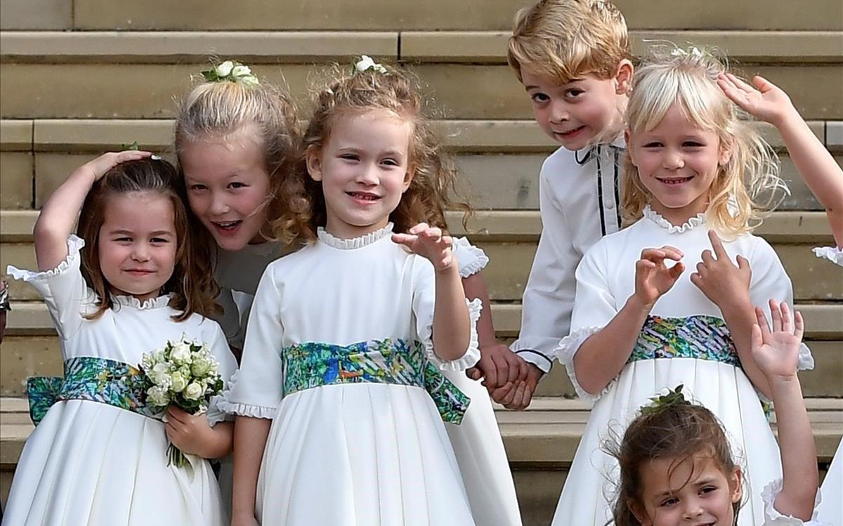 Los pajes de la boda.