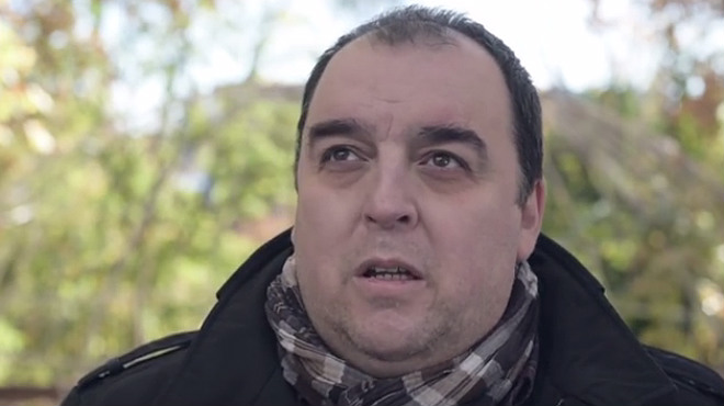 Antonio, el dueño del bar agraciado el año pasado, en un momento del corto Lotería 2015.