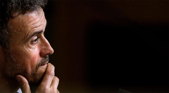 Luis Enrique, seleccionador español,en rueda de prensa