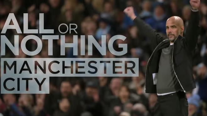 Imagen de presentació deAll or nothing: Manchester City, serie documental de Amazon Prime Video.