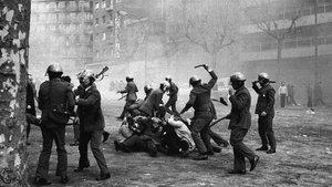 Imagen icónica de la represión franquista en Barcelona.