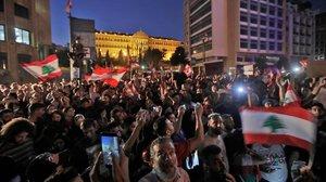 Manifestación ayer en Beirut.