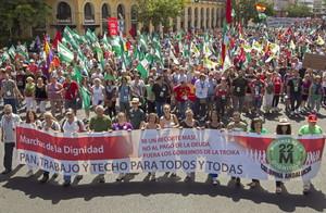 La manifestación de la Marcha de la Dignidad de Sevilla.